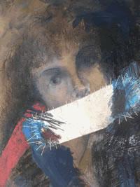 ציור של עדנה טופר טכניקה מעורבת
